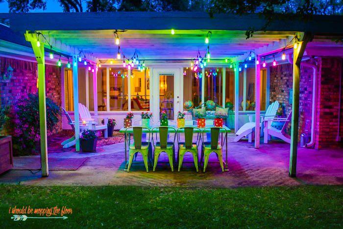 colorful outdoor patio makeover patio