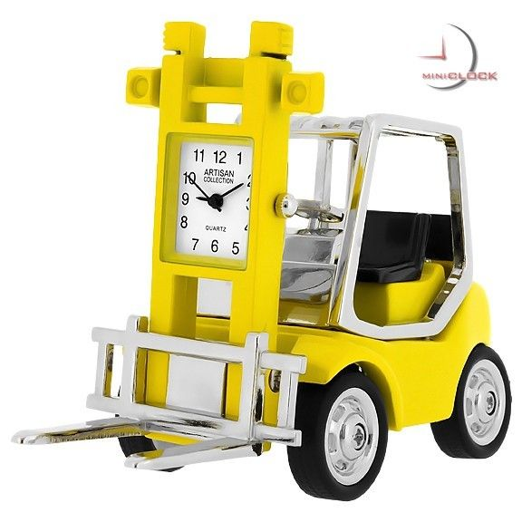 Who does the heavy lifting for you? The perfect die-cast miniature desktop clock for the warehouse worker, forklift driver, or collector.