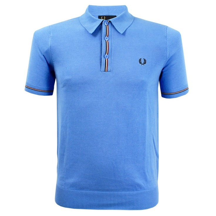 Fred Perry Authentic Fred Perry Tipped Blue Polo Shirt K2213 A78