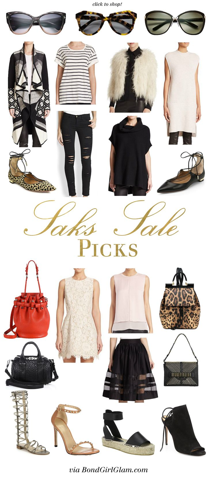 Saks Fifth Avenue Sale Picks | BondGirlGlam.com