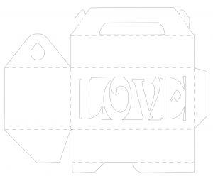 Love Cookie Box free Silhouette cut file