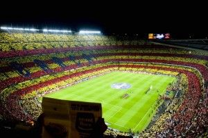#football #stadium . Stadion Camp Nou di Spanyol