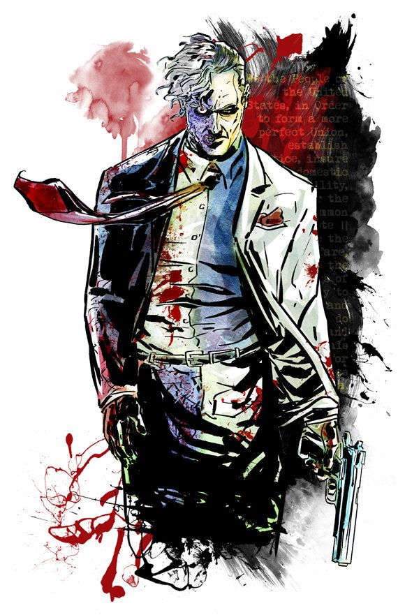 TwoFace  Print by KineticPress on Etsy, $20.00