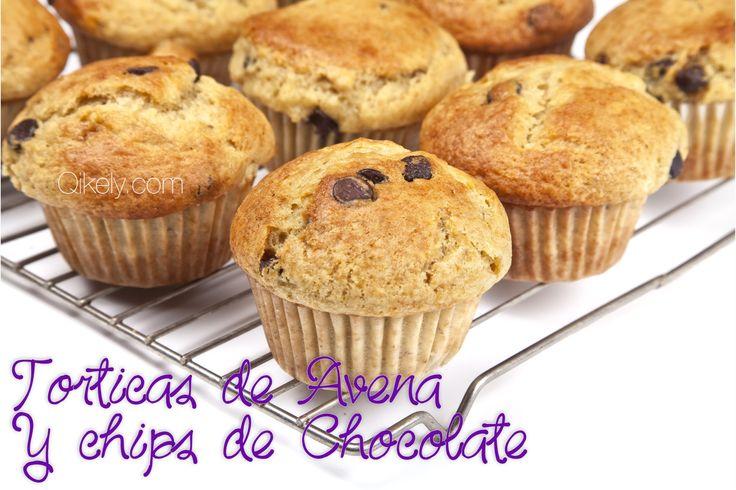Torticas de Avena y Chips de Chocolate #avena #chocolate #recetafacil
