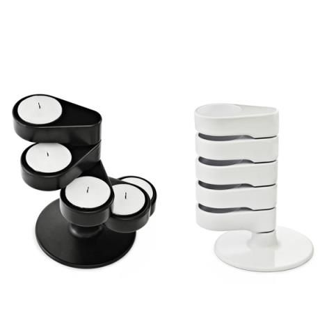 Light Tower candle holder, black