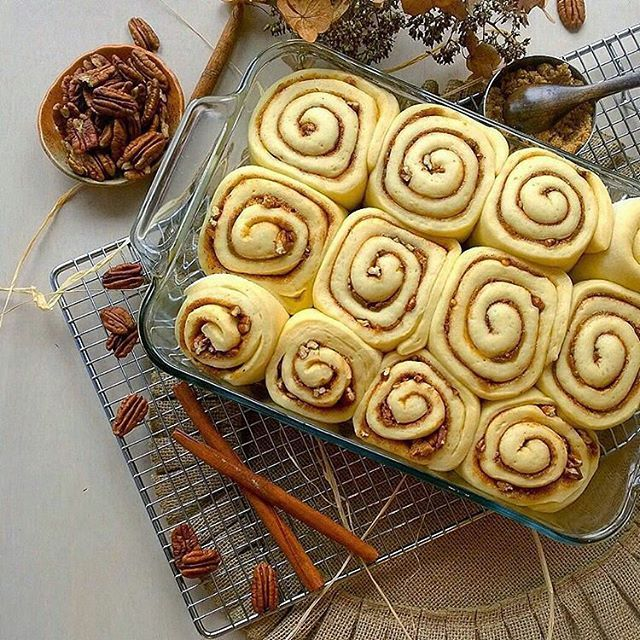 Yes, please!! Dreaming of them all baked up.  Regram from @thekitchensinkblog -  pecan cinnamon roll  #cinnamon  #cinnamonrolls  #nomnom #foodstagram #cinnamonroll  #cookit #huffposttaste #huffingtonpost #buzzfeast #foodstagram #thekitchn #sundaybrunch  #foodwinewomen #foodstyling #foodporn #food52 #f52grams #yeast  #beautifulcuisines #feedfeed  #sweettooth #bhgfood #foodgawker #tastespotting #onthetable #eeeeeats #pgminseason #pecans  #pecans  #foodblogfeed