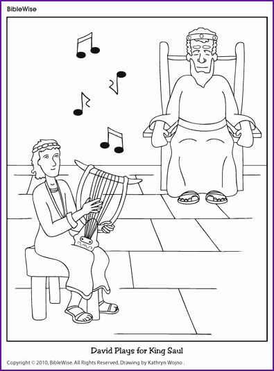 David Spares Saul Coloring Page Awesome King Saul and