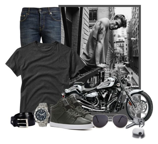 """men style"" by sonilhot ❤ liked on Polyvore featuring Yves Saint Laurent, Gap, Boohoo, Osiris, Armitron, MANGO and Georg Jensen"