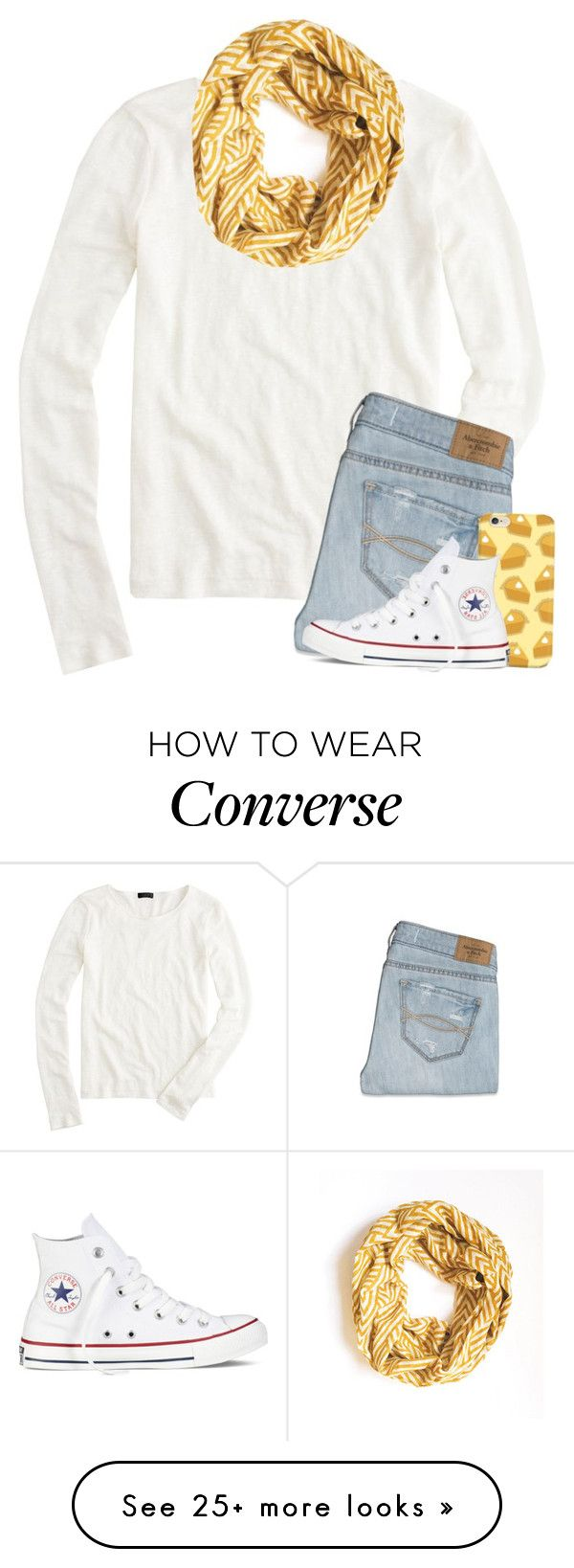 """{Insert pie emoji here}"" by meljordrum on Polyvore featuring J.Crew, Maelu, Abercrombie & Fitch and Converse"