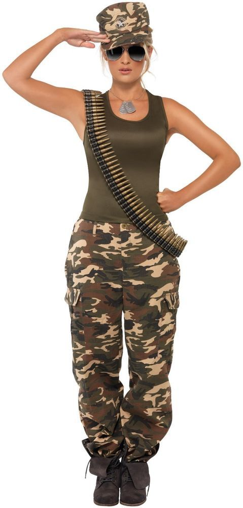 Khaki Camo Lady Adult Costume
