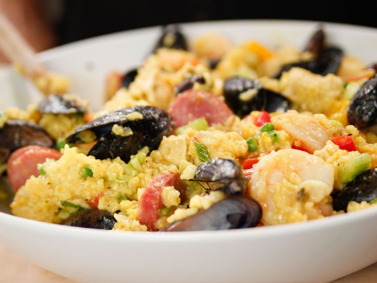 Cooking For Jeffrey Series of New Shows on Food Network Paella Salad recipe from Ina Garten via Food Network