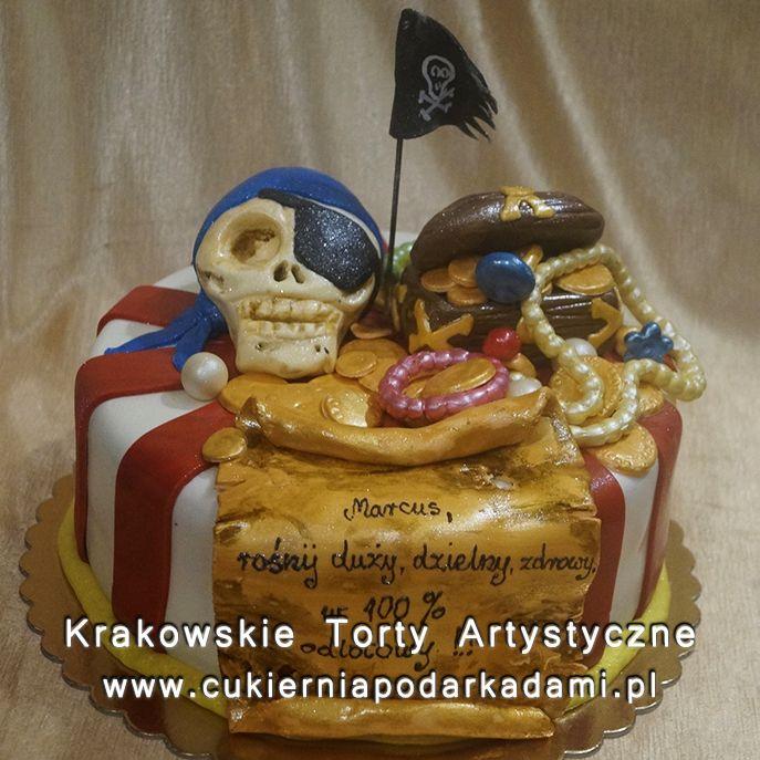 116. Tort wyspa skarbów dla pirata. treasure island cake for pirates.