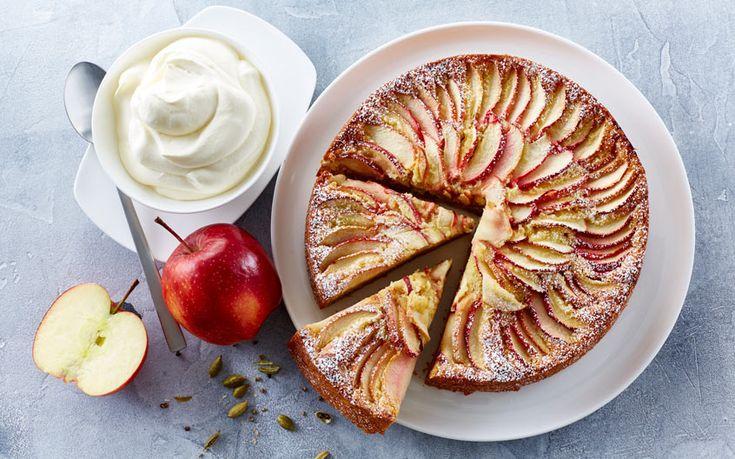 Forskellige variationer af æblekager