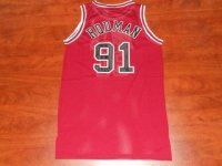 Chicago Bulls NBA Shirt #91 Dennis Rodman Red Jersey [F205]
