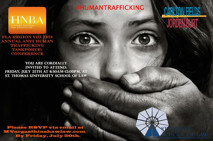 #HNBA #HumanTrafficking Conference, July 25, 2014 at St. Thomas Law School. This event is FREE of charge.