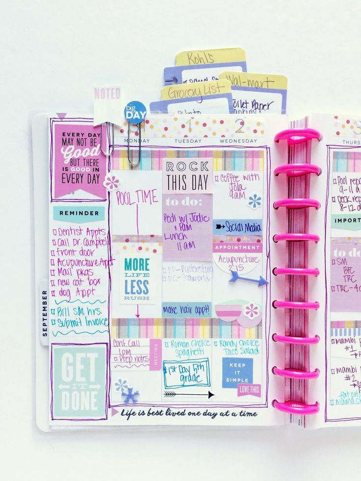 mom's purple-themed BACK TO SCHOOL spread by mambi Design Team member Mary-Ann Maldonado   me & my BIG ideas