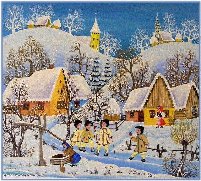 Romanian traditional village