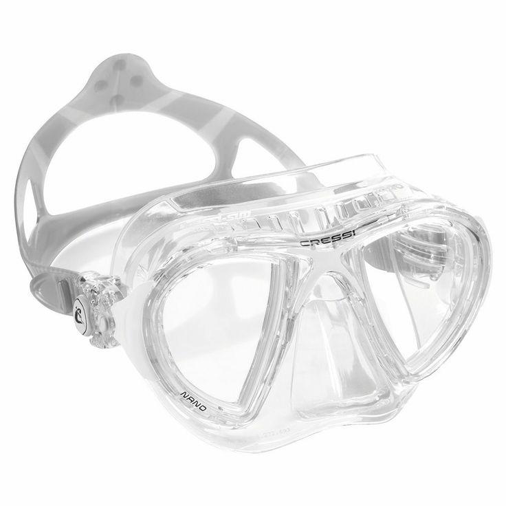 Cressi Nano Crystal Silicone Scuba Snorkeling Dive Mask Clear   eBay