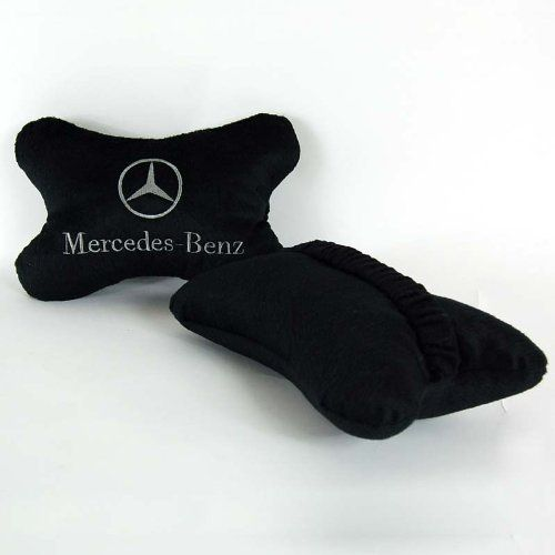 Mercedes-benz Car Seat Neck Pillow Cushion 2pc Set