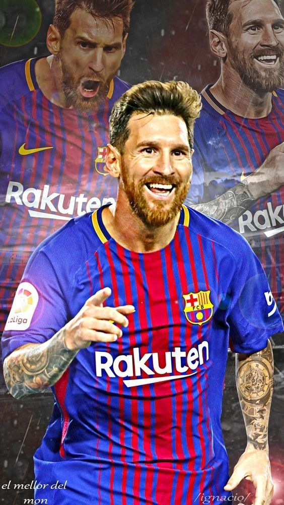 """Lionel Andrés """"Leo"""" Messi is an Argentine professional footballer who plays as a forward for Spanish club FC Barcelona and the Argentina national team. Wikipedia Born: 24 June 1987 (age 30), Rosario, Argentina Height: 1.7 m Spouse: Antonella Roccuzzo (m. 2017) Salary: 40 million EUR (2016) Children: Thiago Messi, Mateo Messi Did you know: Lionel Messi has the most goals scored (5) in the FIFA Club World Cup. #futbolmessi"""
