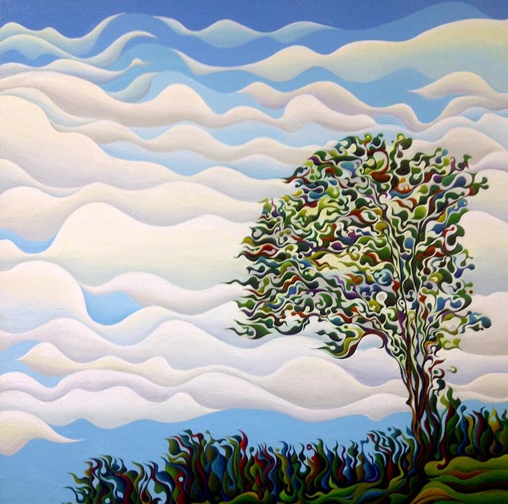 Westward Yearning Tree  30 x 30  Acrylic on Canvas