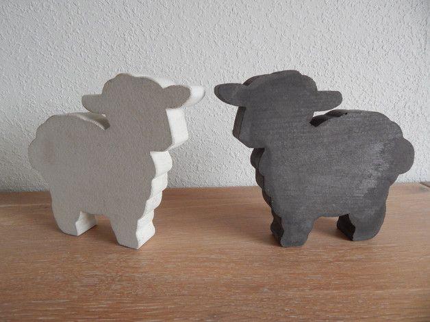 Deko-Objekte - Schafe aus Beton - ein Designerstück von Petristein bei DaWanda