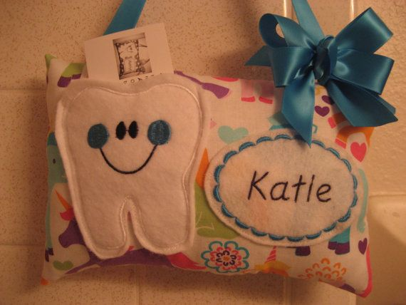 Tooth Fairy Pillow Personalized-Tooth Fairy Pillow-Girls Tooth Fairy Pillow-Girls Tooth Fairy Pillow-Tooth Fairy Certificate