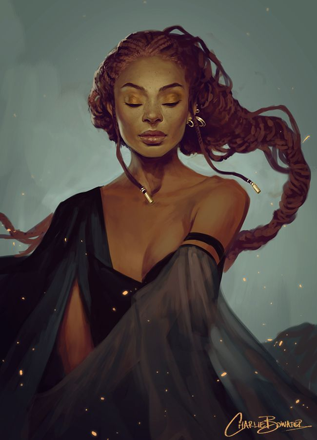 It's not often you see a lovely black lady in fantasy art. It's a nice refresher from constant Eurpoean fantasy. I think people just become so focused on the unknown-- creating aliens, elves, dwarves, witches, etc. in their own image-- that they forget how beautiful the known and different can be.  http://www.deviantart.com/art/Sketch-XXIII-399736043