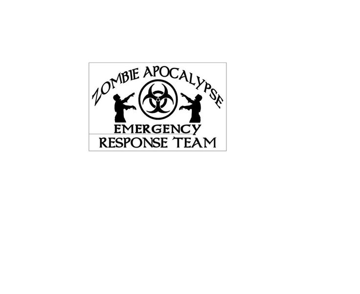 Zombie Apocalypse Emergency Response Team Decal by Thelambsenchanted on Etsy
