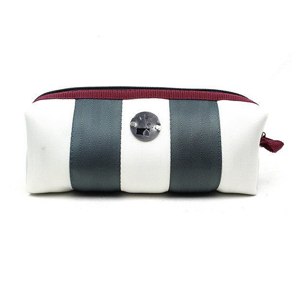 Seat Belt Wash Bag - Handcrafted and sourced in Malaysia - Upcycled using discarded seat belts - Sustainable and Ethical Fashion Accessories