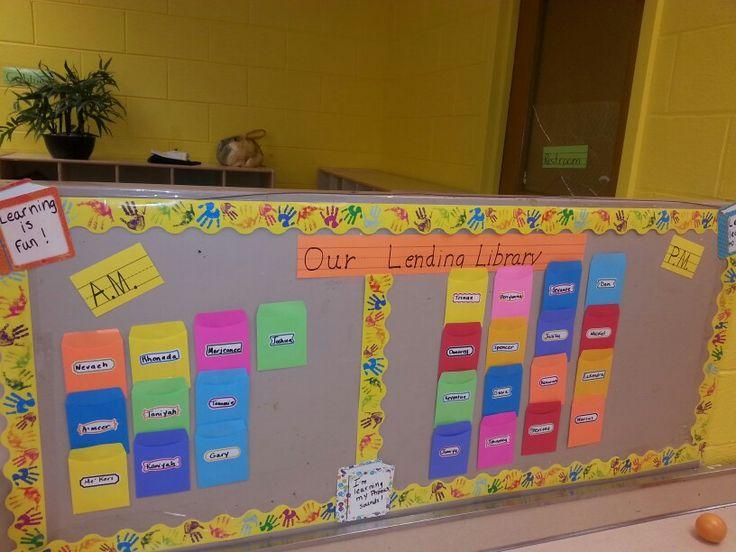 Lending library/Preschool Book/library Pinterest
