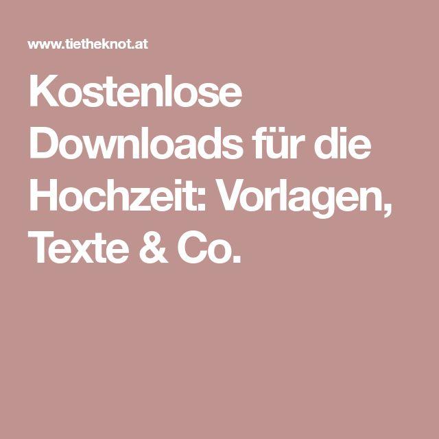 Kostenlose Downloads Für Die Hochzeit: Vorlagen, Texte