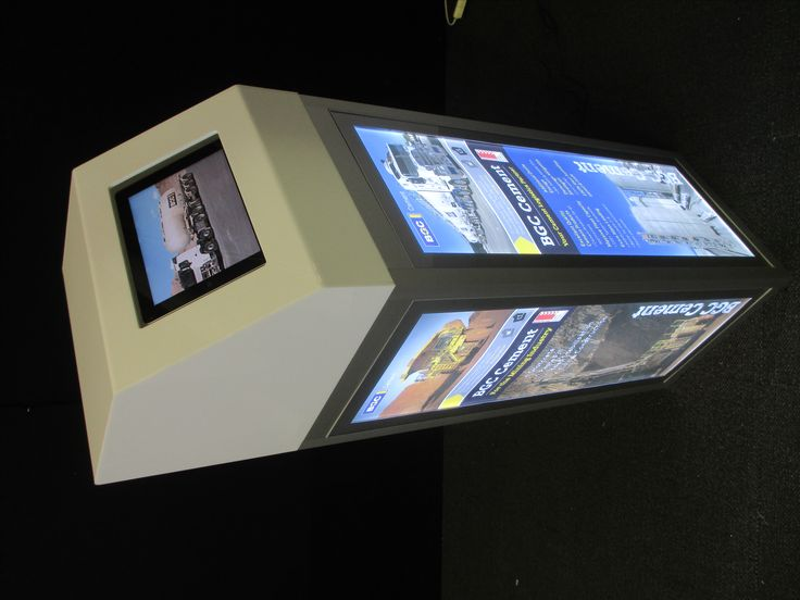 Lightbox Plinth with a tablet surround. Can fit any tablet and Graphics can be easily changed out. www.displays2go.com.au