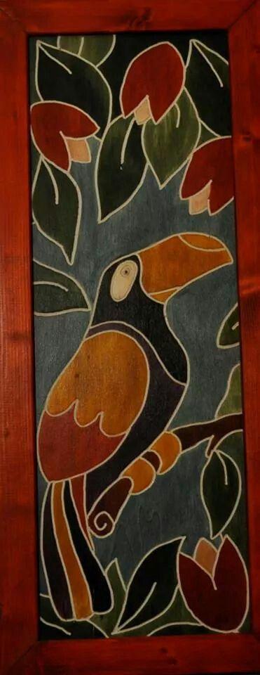 Questo quadro il legno è realizzato con la tecnica dell' incisione