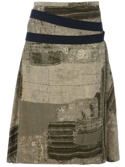 Jean Paul Gaultier Patchwork Skirt in Green