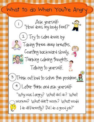 FREE Behavior Poster~  The folks at The Honey Bunch off this free What To Do When You're Angry poster to help students stop, assess, and then reflect.  This simple process maps out healthy steps to follow when feeling are running high!