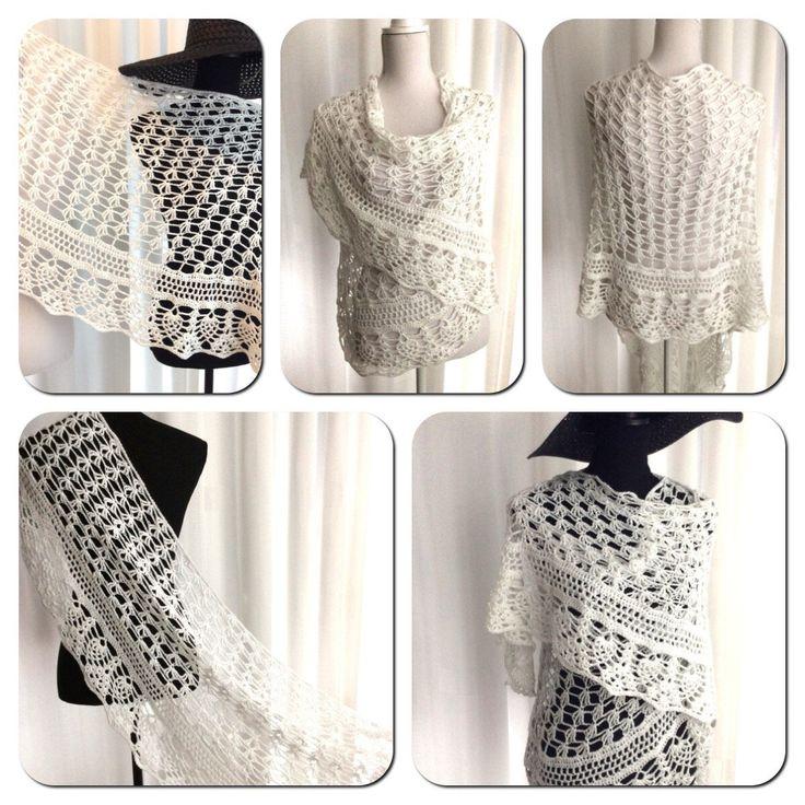 Blij om mijn nieuwste toevoeging aan mijn #etsy shop te kunnen delen: Bruiloft, gehaakte Sjaal, sneeuwwitte ( bruids) stola, gardenia wrap, rechthoek, omslagdoek, bolero in wit, zomer stola #accessoires #sjaal #wit #bruiloft #wittebruidsstola #bruidsmode #gehaaktewittesjaal #wittebruidssjaal #bruidskleding