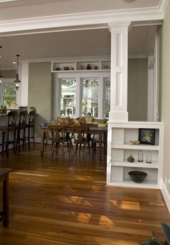 25 best support beam ideas on pinterest basement pole - Dining room living room separation ...