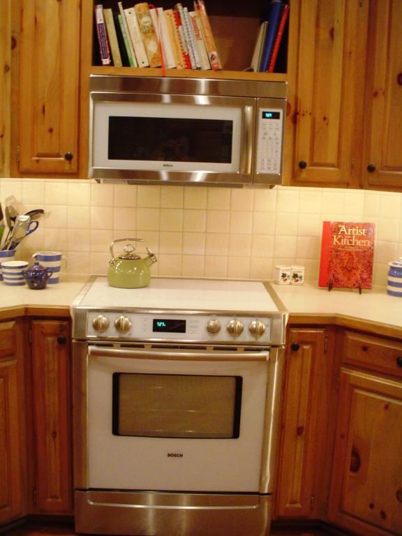 Microwave Shelves For Over The Stove Cabinets But Like Idea Of Openness