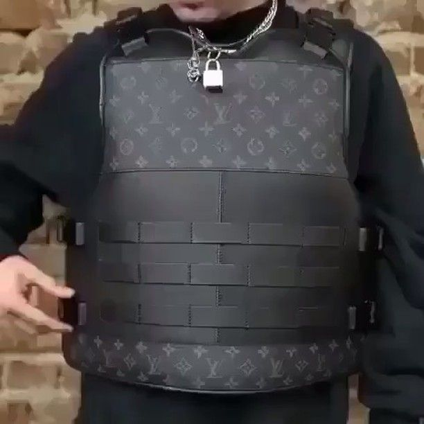 A Custom Louis Vuitton Kevlar Vest Designed For