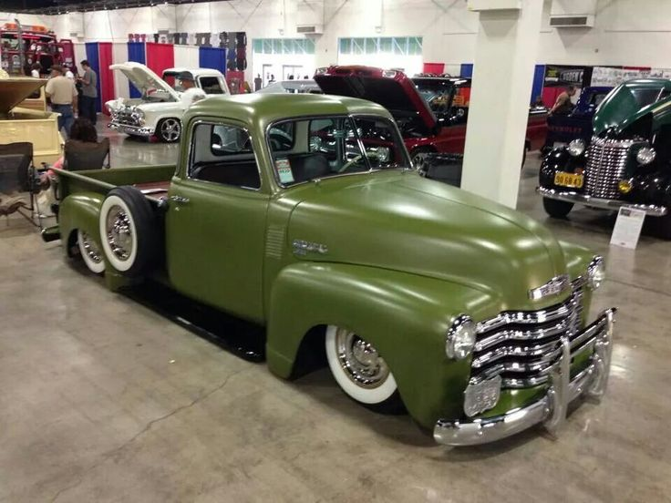 Chevy 0 60 >> Chevy chevrolet advanced design pick up truck in drab green olive green military green and ...