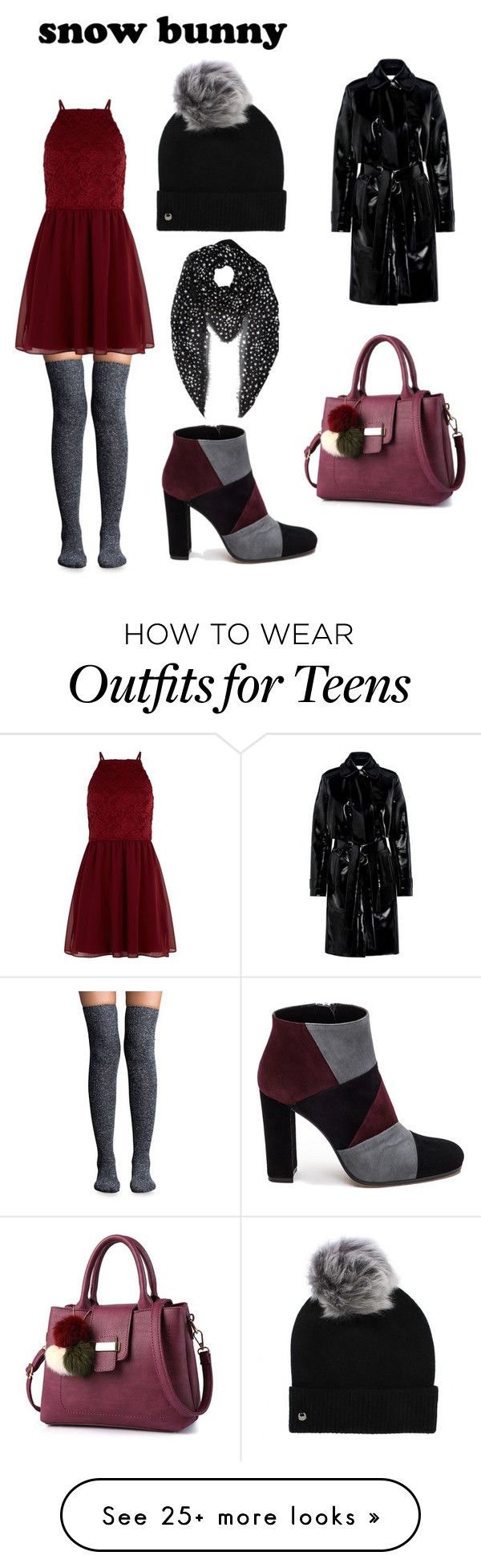 """""""Crimson"""" by andrasq on Polyvore featuring Lemon, New Look, Roberto Festa, UGG, Yves Saint Laurent and Carven"""