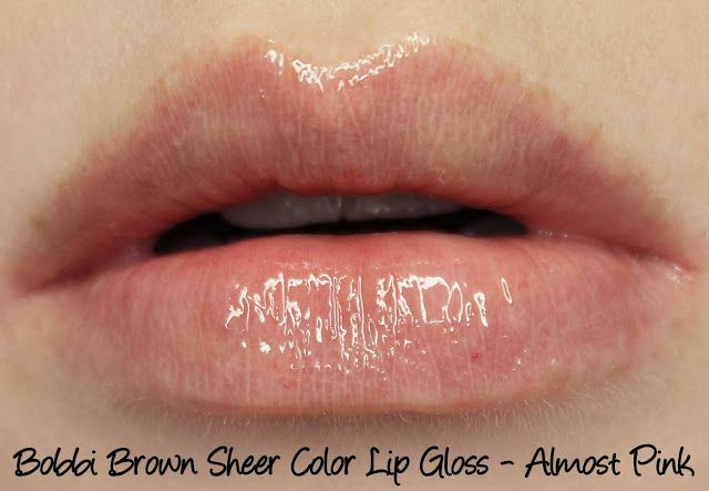 Bobbi Brown Almost Pink Lip Gloss Swatches & Review