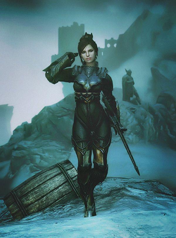 Ebony Valkyrie armor by comrade1280 http://www.nexusmods.com/skyrim/mods/49953/?