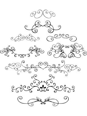 Doodle Vector Ornamental Elements Royalty Free Stock Vector Art Illustration