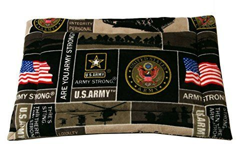 Designer Duds for Dogs Army Emblem Dog Mat Dog or Cat Crate Mat Bed Cushion Cozy Fleece Nap Pad XS 24x18 -- Details can be found by clicking on the image.