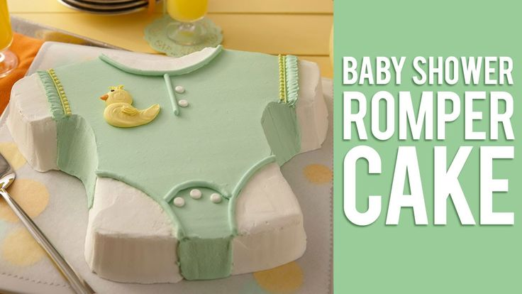 How to Make a Baby Shower Romper Cake - http://cakesmania.net/how-to-make-a-baby-shower-romper-cake/