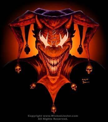 Evil Jester Tattoo Design #3
