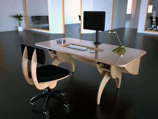 The HiLo Workstation  adjustable desk consoles