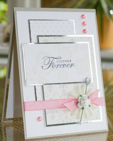 layered boxes, ribbon...neat idea